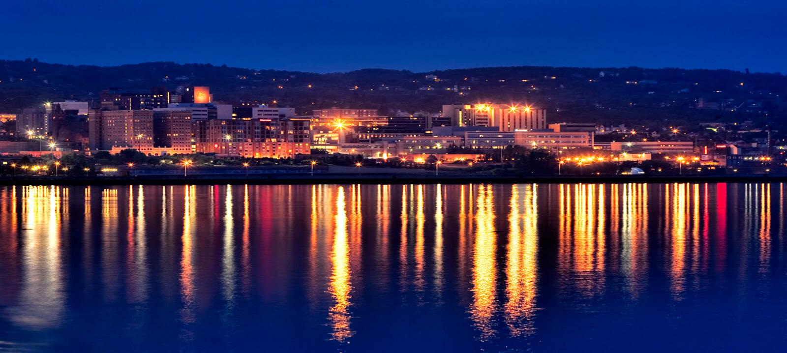 Duluth at night