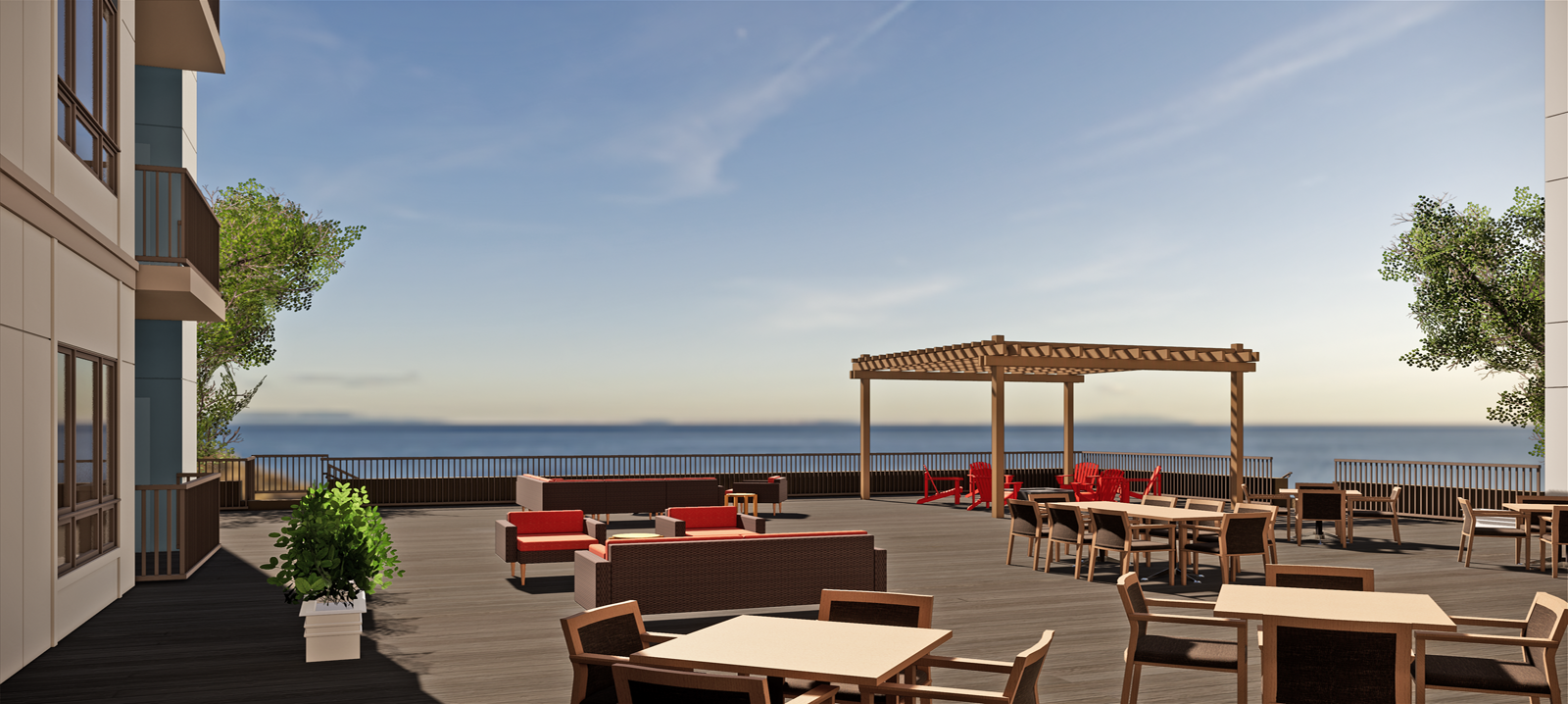 Community Terrace overlooking Lake Superior